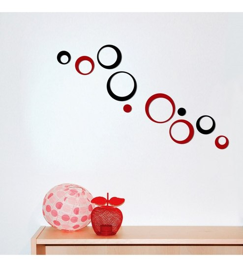 buy creative width small polka black & red 3d red & black acrylic