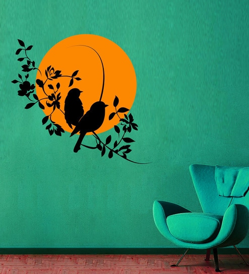 buy creative width vinyl waiting for you wall sticker in black