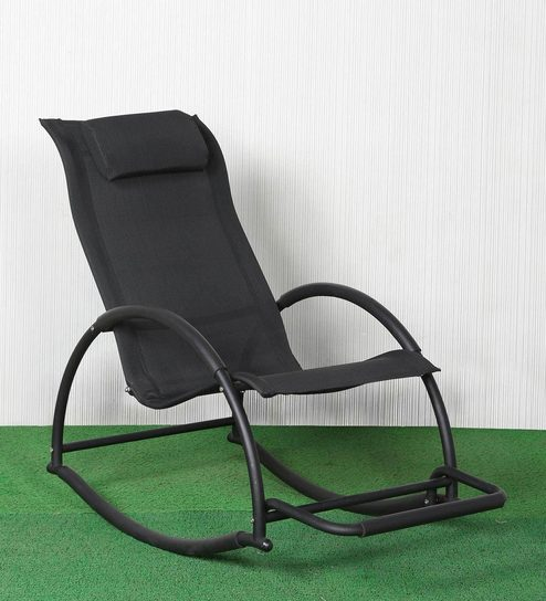 Admirable Cremona Rocking Chair In Black Colour By Parin Dailytribune Chair Design For Home Dailytribuneorg