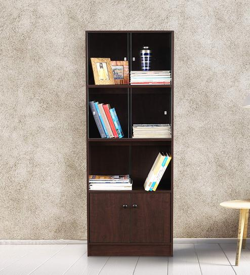 Buy Crony Book Case Medium In Wenge Colour By Hometown Online File