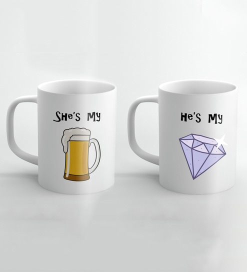 cb822b5d3ff Buy Ceramic 250 ML Mug- Set of 2 by Crude Area Online - Slogan Mugs - Mugs  - Dining & Bar - Pepperfry Product