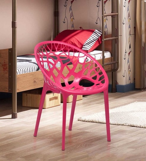 Buy Crystal Designer Chair in Pink Colour by Nilkamal Online ...