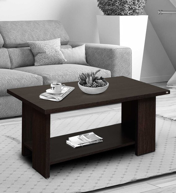 Crayon Coffee Table In Dark Brown Color By Tadesign Modern Rectangular Tables Furniture Pepperfry - What Color Should A Sofa Table Be