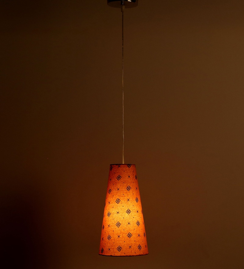 Swastika Design Yellow Color Hanging Lamp by Craftter