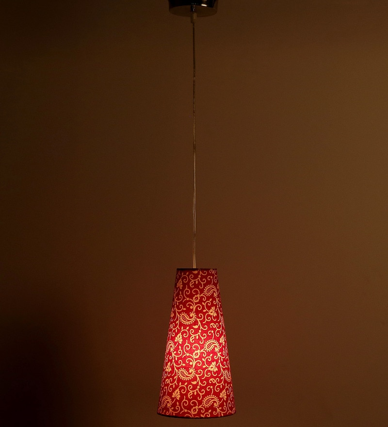 Treditional Keri Design Red Color Hanging Lamp by Craftter
