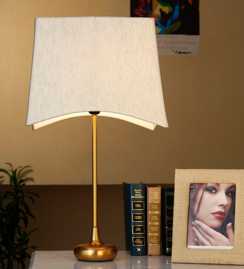 Cream Cotton Table Lamp by Anasa