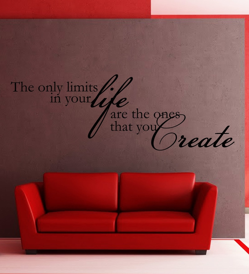 Vinyl No Limits In Life One Wall Sticker in Black by Creative Width