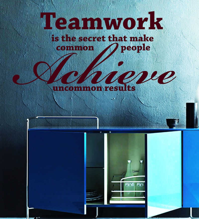 Vinyl Teamwork And Achievement Two Wall Sticker in Burgundy by Creative Width