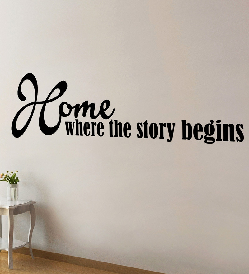 Vinyl Where The Story Begins Two Wall Sticker in Black by Creative Width