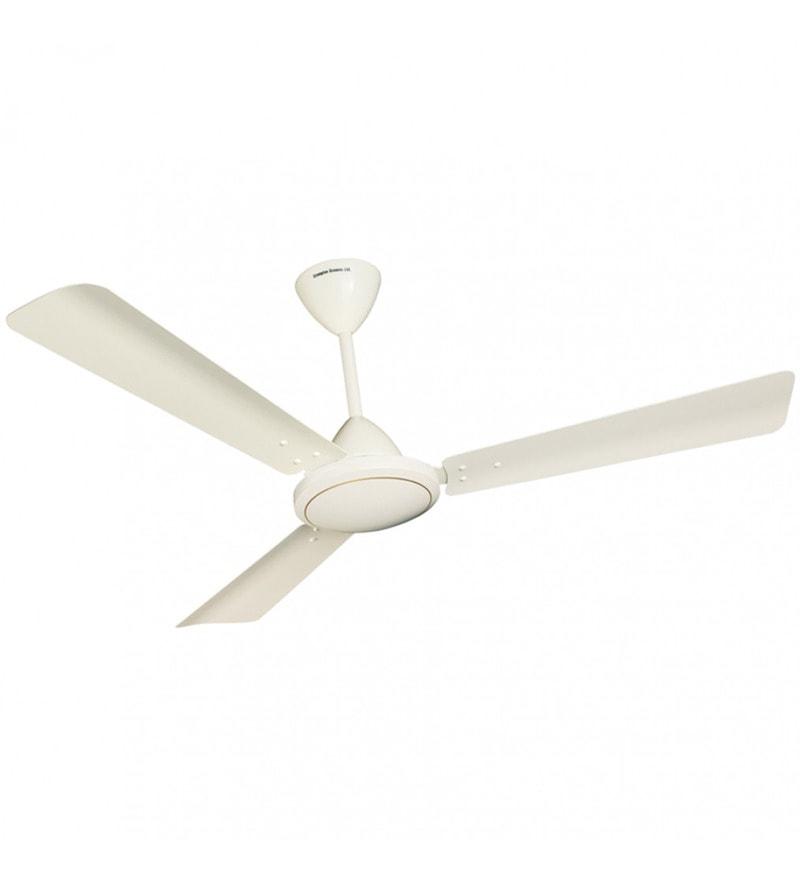 Buy Crompton Greaves Jura White Metal 3 Blade Ceiling Fan