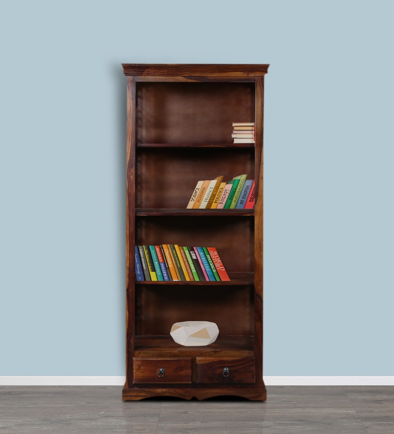 Cromwell Book Shelf Cum Display Unit in Provincial Teak Finish by Amberville