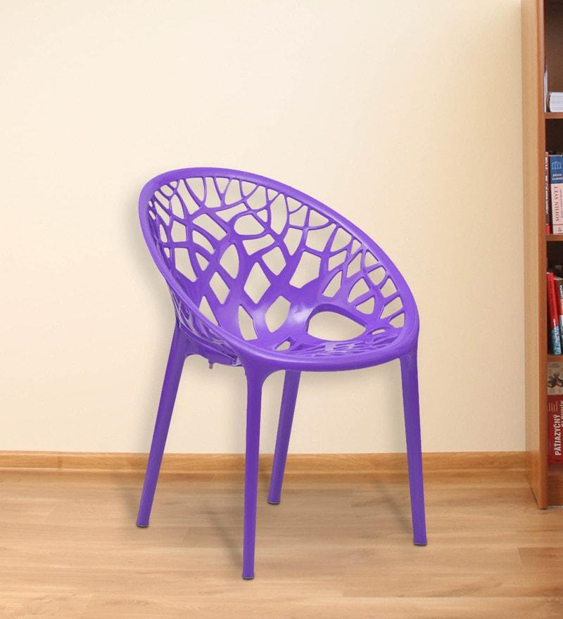 Buy Crystal PP Designer Chair In Violet Colour By Nilkamal