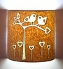Craftter Brown Handmade Paper Birds on Tree Wall Lamp