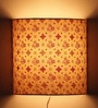 Flower Motifs Off White Half Shade Fabric Wall Lamp by Craftter