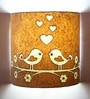 Love Bird Brown & White Wall Lamp by Craftter