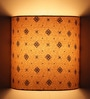 Craftter Swastika Design Beige Half Shade Fabric Wall Lamp