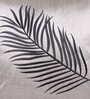 Grey & Black Polyester 16 x 16 Inch Embroidery Cushion Cover by Creative Homez
