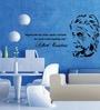 Creative Width Vinyl Albert Einstein Wall Sticker in Black