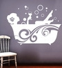 Creative Width Vinyl Bubble Time Wall Sticker in White