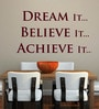 Vinyl Dream It Believe It One Wall Sticker in Burgundy by Creative Width