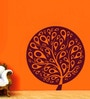 Creative Width Vinyl Ethnic Tree 1 Wall Sticker in Burgundy