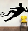 Creative Width Vinyl Footballer Wall Sticker in Black
