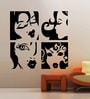 Creative Width Vinyl Ladies Wall Sticker in Black