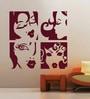 Creative Width Vinyl Ladies Wall Sticker in Burgundy