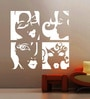Creative Width Vinyl Ladies Wall Sticker in White