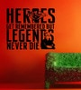 Creative Width Vinyl Legends And Heros Wall Sticker in Black