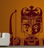 Creative Width Vinyl Lord Rama Wall Sticker in Burgundy