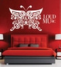 Creative Width Vinyl Loud As Music Wall Sticker in White