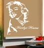 Creative Width Vinyl Marilyn Monroe Wall Sticker in White