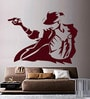 Creative Width Vinyl Michael Jackson Wall Sticker in Burgundy