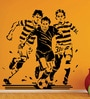 Creative Width Vinyl My Life Football Wall Sticker in Black