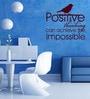 Creative Width Vinyl Positive Thinking Wall Sticker in Burgundy