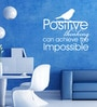 Vinyl Positive Thinking Wall Sticker in White by Creative Width