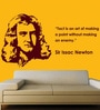 Creative Width Vinyl Sir Issac Newton Wall Sticker in Burgundy