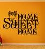 Vinyl Sweet Home One Wall Sticker in Black by Creative Width