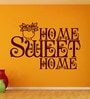Creative Width Vinyl Sweet Home One Wall Sticker in Burgundy