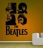 Creative Width Vinyl The Beatles Wall Sticker in Black