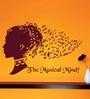 Creative Width Vinyl The Musical Mind Wall Sticker in Burgundy