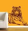 Creative Width Vinyl Tiger Wall Sticker in Burgundy