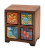 Anish Vintage Collectible with 4 Drawers in Multicolour by Mudramark