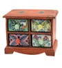 Ajit Vintage Collectible with 4 Drawers in Multicolour by Mudramark