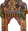 Multicolour Mango Wood Handpainted Jodhpuri Jharokha by CS Exports