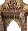 CS Exports Multicolour Mango Wood Handpainted Jodhpuri Jharokha