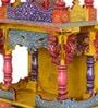 Multicolour MDF & Mango Wood Handpainted Jodhpuri Temple by CS Exports
