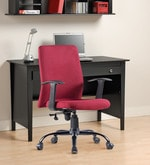 Cube Ergonomic Chair in Maroon Colour