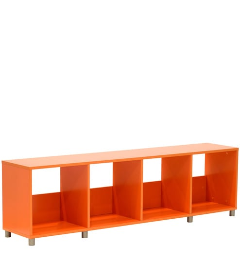 Incroyable Yuma Cube Cabinet In Orange Colour By Mintwud